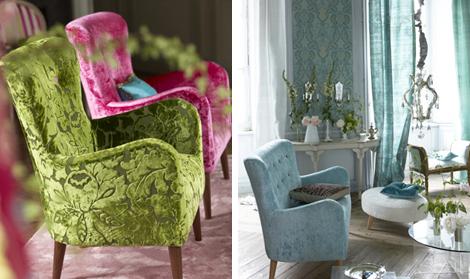 designers guild gardinstoff belysning m rk stue. Black Bedroom Furniture Sets. Home Design Ideas