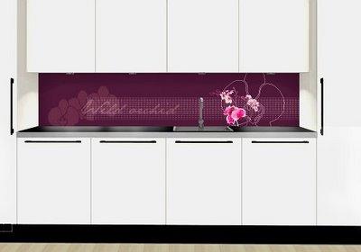 Glass med motiv kjøkken