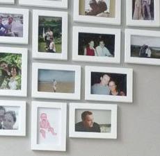 egne bilder på veggen
