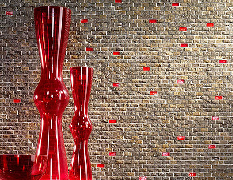 Modernistic-design-mosaic-tiles-wall
