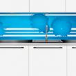 Plexiglass over kjøkkenbenken