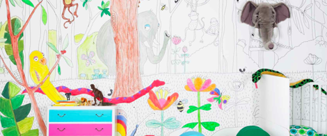 The Company Mr Perswall In Sweden Offers Wallpapers Many Different Designs And Colours What About A Huge Wall Let Kids Colour