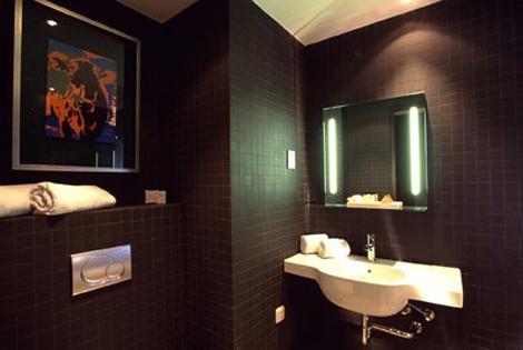 Tiles in dark brown the bathroom Hotel Artemis Amsterdam webstash Dark Brown  Tile Bathroom Home Design Plan.